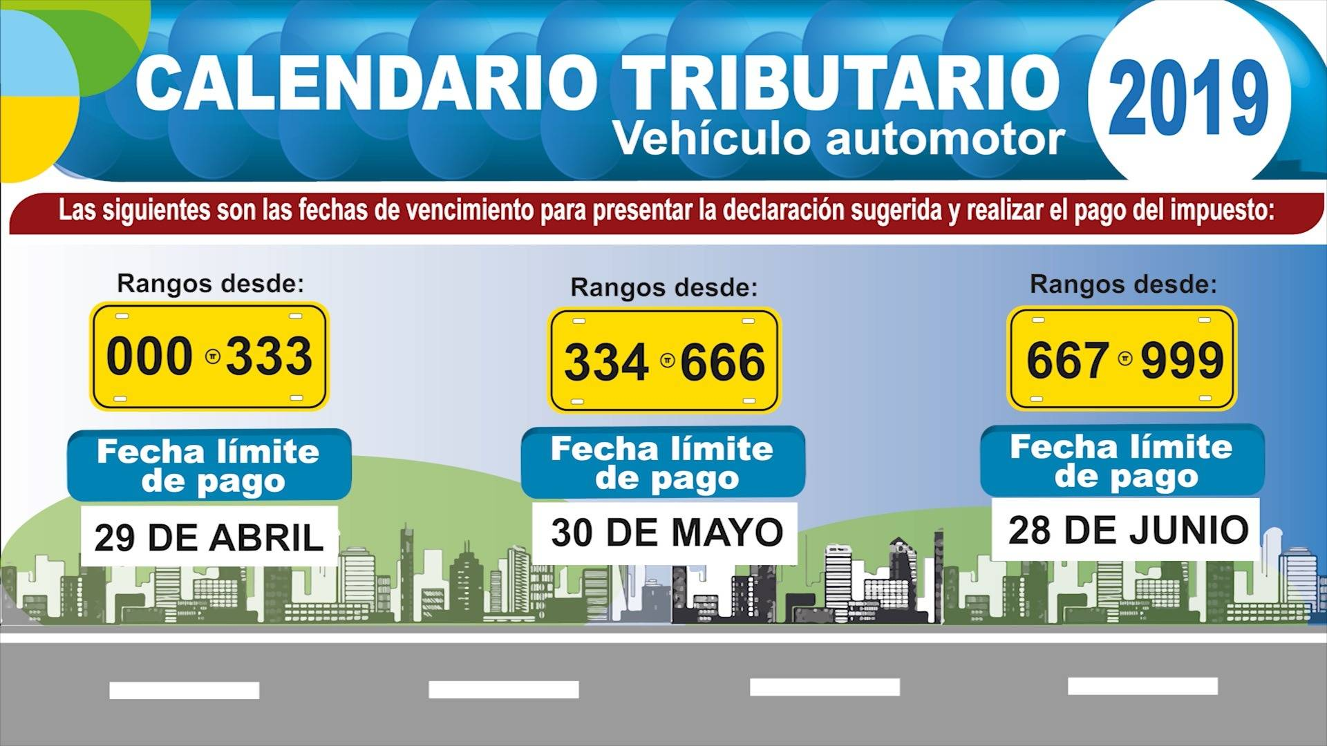 Así quedaron los plazos para el pago del impuesto vehicular vigencia 2019 en el Valle del Cauca