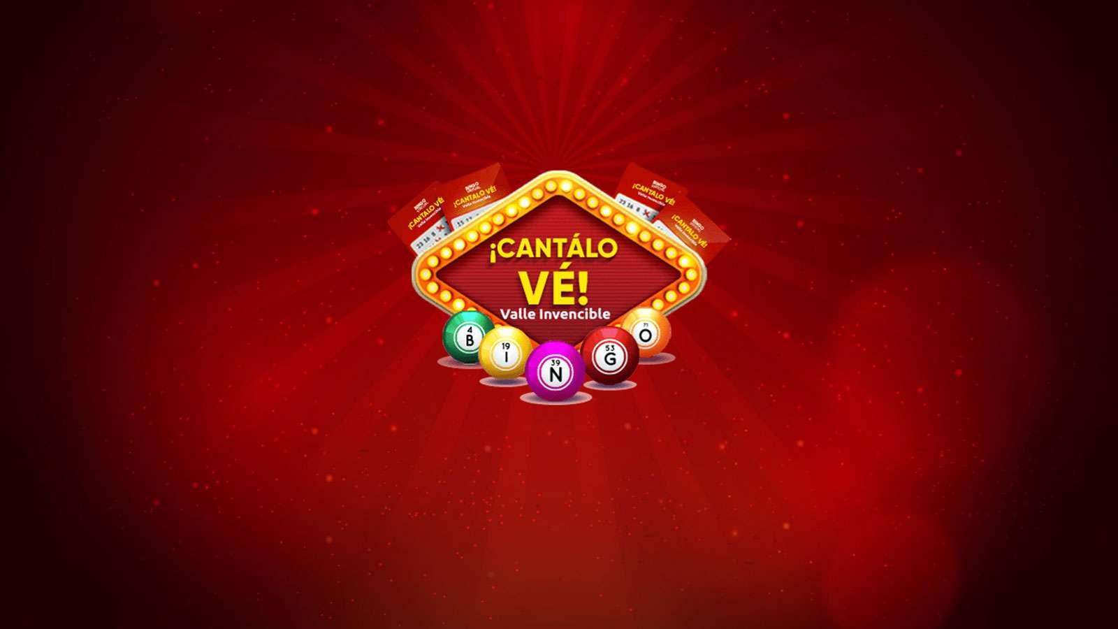 "Participa en el ""Bingo Valle Invencible Cantálo vé"" desde casa"