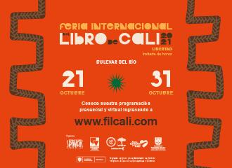 Banner publicitario sobre la Feria Internacional del Libro de Cali