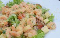 A cocinar: Ensalada de camarón al ajillo
